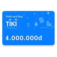 Phiếu Quà Tặng Tiki 4.000.000đ