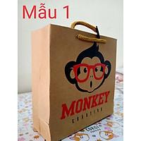 Túi giấy đựng quà size nhỏ (15x15 cm) hỉnh chú khỉ