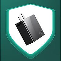 Cốc sạc nhanh 3 cổng Remax RP-U67 GaN Fast 65W, USB QC 3.0 và 2 cổng PD TypeC (Hàng chính hãng)