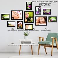 Bộ Khung Hình Treo Tường Treo Tiệm Spa Tặng Kèm bộ ảnh như hình mẫu, đinh treo tranh và sơ đồ treo PGC258