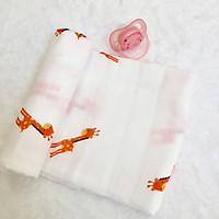 Hộp 2 khăn sợi tre lụa đa năng cho bé - Siêu thấm hút, Mềm mịn, An toàn cho da bé - kích thước 77x77cm