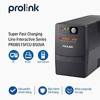 Bộ lưu điện, bộ cấp điện liên tục UPS Prolink PRO851SFCU (850VA) công suất 480W - Hàng chính hãng, có cổng USB