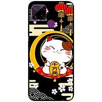 Ốp lưng dành cho Realme C15 mẫu Mèo Nền Đen