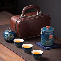 Bộ ấm trà xách tay đơn giản, sang trong, tiện lợi khi đi du lịch