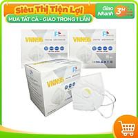 Hộp 10 Cái Khẩu Trang VNN95 PT Mask, Có Van Thở, kháng Khuẩn, Chống Bụi Siêu Mịn PM2.5, Màu Trắng - Đạt Các Chứng Chỉ ISO 13485, ISO 9001, CE, FDA.