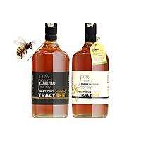 Bộ 2 chai mật ong nguyên chất TRACY BEE TẶNG: 2 hũ mật ong Tracy Bee 189 ml (hoa chôm chôm & hoa cà phê) & 1 Hũ phấn hoa Tracy Bee 50gr