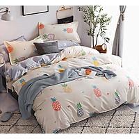 Bộ ga và chăn chần cotton Sweet Love FSL1163 ( 5 món )