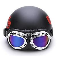 Combo mũ bảo hiểm deadpool + kính phi công