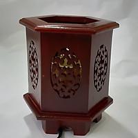 Đèn xông tinh dầu gỗ hương DLG01 Tỏa hương thơm trang trí nội thất nhà cửa