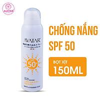 Xịt chống nắng dưỡng ẩm SPF 50 chính hãng - kem chống nắng dạng phun dưỡng ẩm AVATAR SPF 50- xịt dưỡng ẩm chống nắng AVATAR PF 50 cao cấp