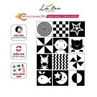 Bộ thẻ dán đen trắng KÍCH THÍCH THỊ GIÁC CHO BÉ 12 thẻ