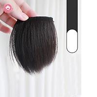 Tóc giả kẹp phồng chân tóc CAO CẤP, tóc ngắn 10 – 15cm, 2 kẹp bấm giá rẻ, giá 1 bên tóc