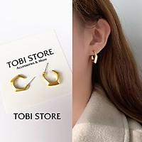 Bông tai nữ hình học TOBI'SHOP khuyên tai nữ mạ vàng hình đa giác cá tính TB295