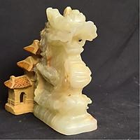 Tượng Phong Thuỷ Tuổi Thìn - Rồng 12 Con Giáp Đá Ngọc Onyx Xanh - 8cm - Mx - Hợp Mệnh Hoả, Mộc