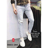 Quần jean nam - quần bò nam co dãn ôm form tôn dáng chuẩn, quần jean thời trang cao cấp nam Muradfashion mẫu MSS21