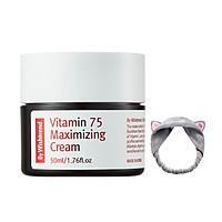 Kem Dưỡng Sáng Da, Chống Lão Hoá Giàu Vitamin By Wishtrend Vitamin 75 Maximizing Cream 50ml + Tặng Kèm 1 Băng Đô Tai Mèo Xinh Xắn ( Màu Ngẫu nhiên)