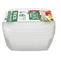 Set 3 hộp nhựa 380ml màu trắng nội địa Nhật Bản