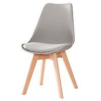 Ghế Nhựa PP lót nệm, chân gỗ ( sản phẩm có nhiều màu )