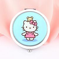 Gương gập tròn Hello Kitty đứng