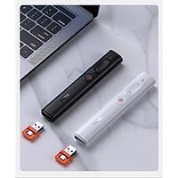 Bút Laser trình chiếu đa phương tiện không dây PPT Baseus ACFYB-A01 Orange Dot RF2.4GHz, Khoảng cách điều khiển: 30m - Hàng chính hãng - giao màu ngẫu nhiên