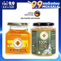 Combo mật ong tinh bột nghệ Honimore 360g và mật ong rừng nguyên chất 360g - Giúp hỗ trợ cải thiện đau dạ dày, chăm sóc da, tăng cường sức đề kháng