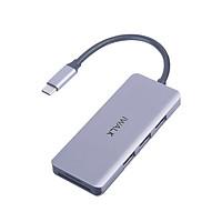 Hub chuyển đổi USB-C iWalk ADH006 7-in-1 4K HDMI, Quick Charge PD 3.0 100W với 7 cổng 3*USB/HDMI/SD/TF/Type C dành cho Macbook Pro, iPad Pro - Hàng chính hãng