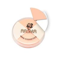Bông phấn trang điểm Aroma Sponge Puff Hàn Quốc (4 miếng/hộp)