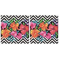 Combo 2 Xấp Khăn Giấy Ăn Trang Trí Bàn Tiệc Tissue Napkins Design Ti-Flair 340121 (33 x 33 cm) - 40 tờ