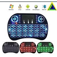 Bàn Phím Không Dây i8 Mini UKB500 Có Đèn Led Dùng Cho Android TV Box, Smart TV, Laptop