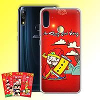 Ốp lưng dẻo cho điện thoại Zenfone Max Pro M2 - 01219 7955 HPNY2020 09 - Tặng bao lì xì Mừng Xuân Canh Tý - Hàng Chính Hãng