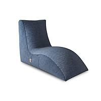 GHẾ LƯỜI  HẠT XỐP FLAMINGO (Flamingo - indoor beanbag chair) CHẤT LIỆU VẢI NHẬP KHẨU MÀU XANH DƯƠNG - TARUJO