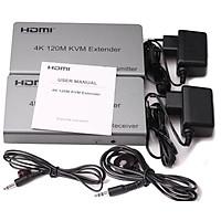 Bộ Khuếch Đại Tín Hiệu HDMI Extender Qua LAN Kéo Dài 120 mét Độ Phân Giải 4K - Tích Hợp Cổng USB Điều Khiển Chuột và Bàn Phím - Có Cổng Hồng Ngoại IR Điều Khiển TV