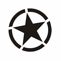STAR CIRCLE NGÔI SAO - Sticker transfer hình dán trang trí Xe hơi Ô tô size 11cm