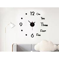 Đồng hồ dán tường kết hợp chữ và số đẹp mắt 3D