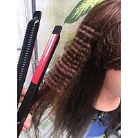 Máy bấm xù tóc chỉnh nhiệt cao cấp Hàn Quốc SH201 _TẶng kèm kẹp vịt chia tóc