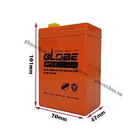 Ắc quy khô GLOBE WP5-6 6V-5AH Bình ắc quy khô 6v cho xe điện trẻ em ,đèn khẩn cấp,quạt sạc