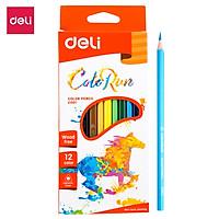 Bút chì màu hình tam giác Deli, 12 màu/18 màu/24 màu - EC00100/EC00110/EC00120
