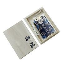 Set omamori học hành xanh dương và hộp gỗ