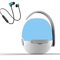 Loa nghe nhạc mini siêu trầm hình quả trứng hỗ trợ bluetooth, thẻ nhớ, kết nối đàm thoại + Tai nghe nhét tai bluetooth XT-11 ( màu ngẫu nhiên )