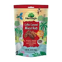 Hạt hỗn hợp ngào cà phê Heritage : Hạnh nhân, hạt điều, hồ đào nguyên liệu Mỹ  ngào cà phê - Coffee caramen mixed Nuts