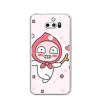 Ốp lưng dẻo cho điện thoại LG V30 - 0373 APEACH01 - Hàng Chính Hãng