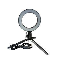 Đèn LED USB Tròn Chụp Ảnh Selfie DC5V Với Chân Máy Mini (7W)