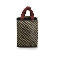 Túi giữ nhiệt kiểu đứng caro vàng đen sang trọng