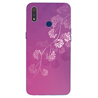 Ốp điện thoại dành cho máy Oppo Realme 3 - Hoa tím MS ACTDA012