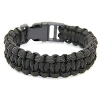 Parachute Cord Survival Bracelet with Emergency Hiking Paracord Bracelet Buckle Kit Rope Wristband