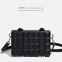 Túi xách unisex nam nữ 1992 s t u d i o / WINI BAG / túi hộp đeo chéo màu đen cá tính