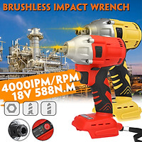 """18V 588Nm 4000 rpm 1/2"""" Cordless Brushless Electric Impact Wrench Body For Makita Battery"""