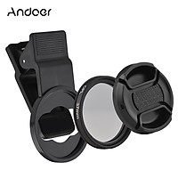 Andoer 37MM Professional Smartphone CPL Filter Set  Clip-on Circular Polarizer Lens with Universal Phone Clip Lens