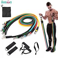 Bộ dây tập gym ngũ sắc tập thể hình tập gym đa năng 11 món cho nam và nữ KÈM túi đựng BaoAn - Hàng chính hãng