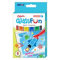 Bút Sáp Vẽ Trang Trí Trên Kính Glass Fun AMOS ACXG1 (6 Màu)